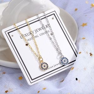 Jewelry - Royal Blue Clear Crystal Devil's Eye Necklace